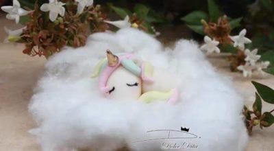 Modelage bébé licorne pate à sucre